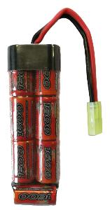 BATTERIE FLAT 1 STICK NIMH 8.4V 1600 MAH 2/3A VB POWER