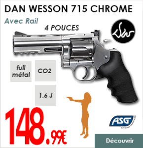 DAN WESSON 718 CHROME RAIL