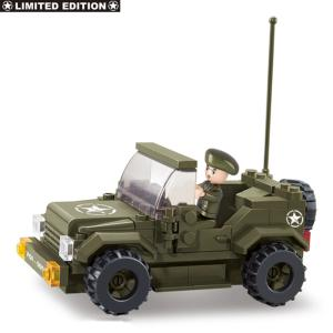 JEU DE CONSTRUCTION COMPATIBLE LEGO SLUBAN ARMY JEEP ALLIED STAR M38-70207 SOLDAT ARTICULE