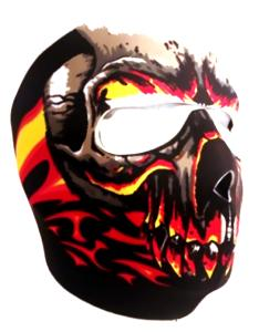 MASQUE DE PROTECTION INTEGRAL NEOPRENE RED ZOMBIE CRANE FLAMME TRIBAL DMONIAC