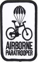 PATCH / ECUSSON TISSU THERMOCOLLANT AIRBORNE PARATROOPER BLANC