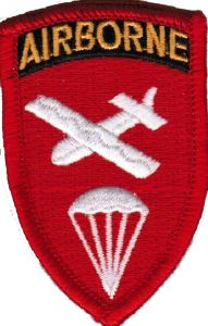 ECUSSON OU PATCH US ARMY AIRBORNE ROUGE BRODE THERMO COLLANT