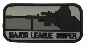 ECUSSON / PATCH 3D PVC SCRATCH MAJOR LEAGUE SNIPER NOIR ET GRIS