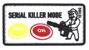 PATCH / ECUSSON 3D PVC VELCRO SERIAL KILLER MODE BLANC