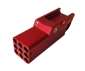MINI LAUNCHER A GAZ EN ALUMINUM ROUGE 40 BILLES