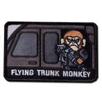 ÉCUSSON OU PATCH FLYING TRUNK MONKEY SWAT NOIR ET BLANC MSM