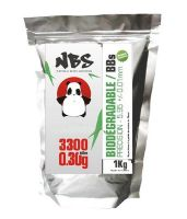 SACHET DE 3300 BILLES BLANCHES BIODEGRADABLES 0.30G NBS