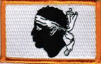 ECUSSON OU PATCH DRAPEAU CORSE BRODE THERMO COLLANT