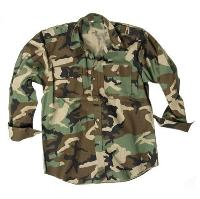 CHEMISE US RIPSTOP CAMOUFLAGE WOODLAND TAILLE S
