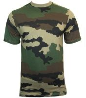 TEE SHIRT CAMOUFLAGE CENTRE EUROPE COL ROND ET MANCHES COURTES S
