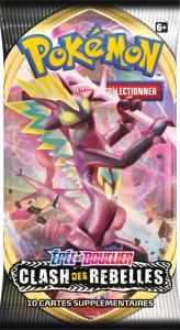 PAQUET DE 10 CARTES BOOSTER SUPPLEMENTAIRES POKEMON EPEE ET BOUCLIER EB02 - CLASH DES REBELLES