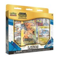 COFFRET / BOX POKEMON MAJESTE DES DRAGONS LATIOS SERIE SL 7.5 COLLECTION AVEC PIN'S