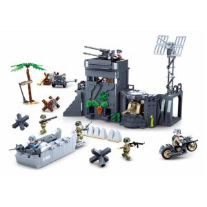 JEU DE CONSTRUCTION COMPATIBLE LEGO SLUBAN ARMY LE MUR DE L'ATLANTIQUE  M38 B0861