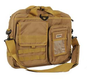 "SACOCHE TACTIQUE BEIGE TAN POUR ORDINATEUR PORTABLE 17"" SWISS ARMS"