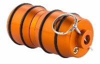 GRENADE IMPACT GAZ ORANGE 40MM ALUMINIUM 120 BILLES