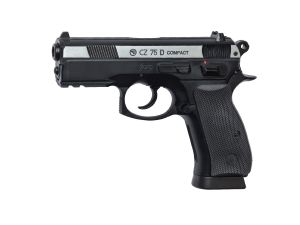 CZ 75D COMPACT CO2 LOURD BICOLORE CULASSE MOBILE EN METAL HOP-UP AVEC RAIL 1.1 JOULE