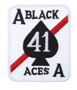 ECUSSON / PATCH BRODE CARTE BLACK ACES STRIKE FIGHTER  VFA 41 ESCADRON THERMO COLLANT AIRSOFT