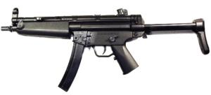 FUSIL D'ASSAUT MP5 D-95 AEG SEMI ET FULL AUTO CROSSE RETRACTABLE 0.2 JOULE WELL
