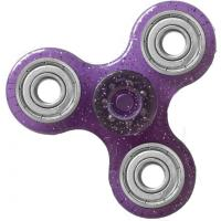 HAND SPINNER / TOUPIE A MAIN EN PLASTIQUE ET METAL TRANSPARENT UNI PAILLETTE COULEUR VIOLET