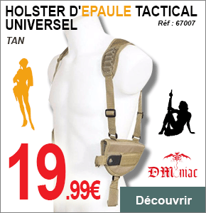 HOLSTER EPAULE TACTICAL UNIVERSEL