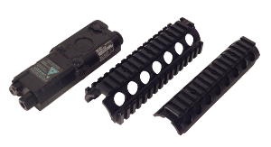 KIT DE CONVERSION COLT M4 RIS GARDE MAIN METAL + BOITIER POUR BATTERIE EN PLASTIQUE KING ARMS