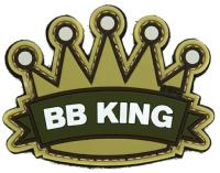 PATCH / ECUSSON 3D PVC SCRATCH COURONNE BB KING TAN ET VERT
