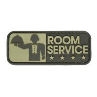 ECUSSON / PATCH RECTANGULAIRE ROOM SERVICE DESERT (KAKI) A SCRATCH MSM