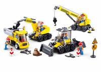 JEU DE CONSTRUCTION COMPATIBLE LEGO SLUBAN TOWN SET ENGINS CHANTIER M38-B0810 FIGURINES ARTICULES