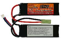 BATTERIE LIPO 7.4V 1500 MAH 20C/BURST 40C 2 STICKS VB POWER