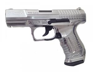 P99 WALTHER DAO CUSTOM CHROME CO2 UMAREX METAL BLOW BACK GBB 1.9 JOULE