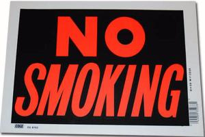 PLAQUE DECORATIVE EN PLASTIQUE 30.5 X 20.5 CM NO SMOKING