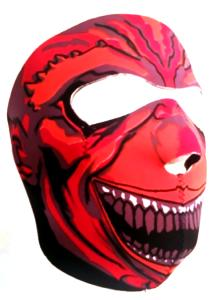 MASQUE DE PROTECTION INTEGRAL NEOPRENE JOCKER SOURIANT ROUGE DMONIAC