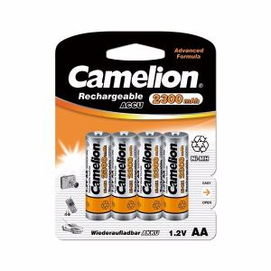 BLISTER DE 4 PILES ACCUS RECHARGEABLES NI-MH 1.2V 2300 MAH AA R06 CAMELION