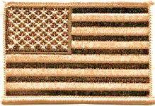 ECUSSON / PATCH DRAPEAU US DESERT UNITED STATES THERMO COLLANT