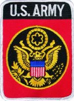 ECUSSON / PATCH US ARMY / ARMEE MILITAIRE DES ETAS UNIS THERMO COLLANT