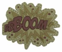PATCH / ECUSSON 3D PVC VELCRO BBBOOM MARRON TAN ET VERT