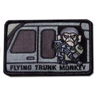 ÉCUSSON OU PATCH FLYING TRUNK MONKEY ACU DARK NOIR ET GRIS MSM