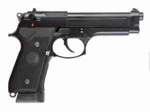 M92F / M9 KJ WORKS CO2 BLOWBACK FULL METAL NOIR SEMI AUTO HOP UP 0.84 JOULE