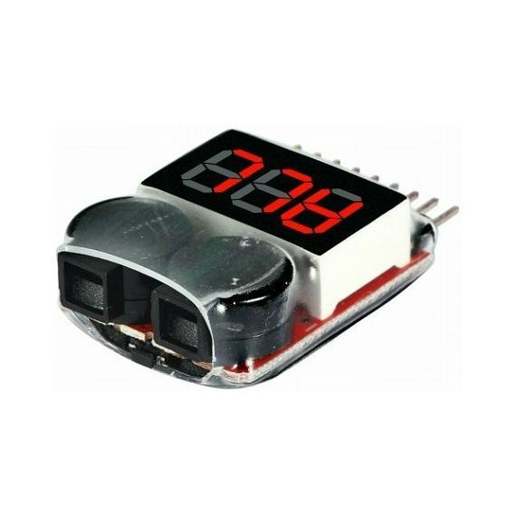 buzzer digital contr leur de tension pour batterie lipo 1 a 8 s beepo pro tronik a63322 airsoft. Black Bedroom Furniture Sets. Home Design Ideas