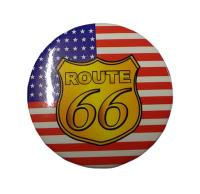 BADGE / PIN'S / EPINGLE / INSIGNE EN METAL - DRAPEAU USA ET ROUTE 66