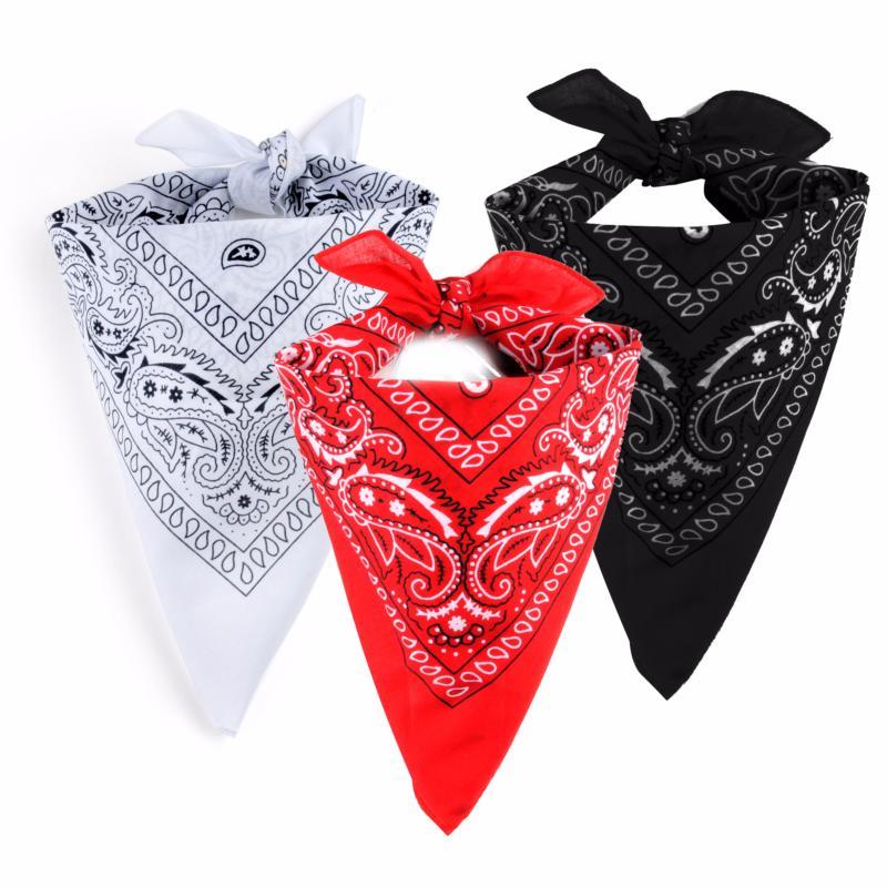 3 bandanas 100 coton blanc rouge et noir avec motif for Tapis coton noir et blanc