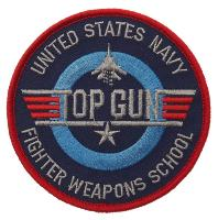 ECUSSON / PATCH TOP GUN FIGHTER WEAPONS SCHOOL UNITED STATES NAVY THERMO COLLANT AIRSOFT
