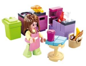 JEU DE CONSTRUCTION COMPATIBLE LEGO SLUBAN GIRL'S DREAM CUISINE M38-B0800B FIGURINE ARTICULE