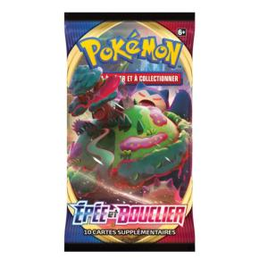PAQUET DE 10 CARTES BOOSTER SUPPLEMENTAIRES POKEMON EPEE ET BOUCLIER EB01