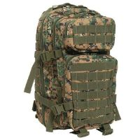 SAC A DOS D'ASSAUT US CAMO DIGITAL WOODLAND EXTENSIBLE ET MULTI POCHES
