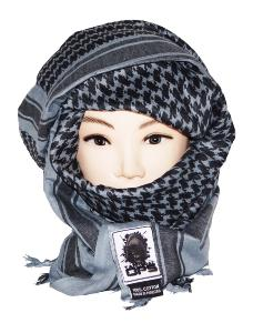 SHEMAGH / KEFFIEH / CHECHE / FOULARD AFGHAN TACTICAL OPS 100% COTON GRIS 100 X 100 CM