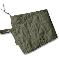 PONCHO LINER / COUVERTURE MATELASSEE 210 X 150 CM VERT OLIVE