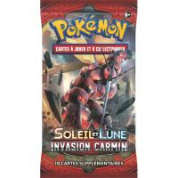 1 PAQUET DE 10 CARTES BOOSTER SUPPLEMENTAIRES POKEMON SL04 SOLEIL ET LUNE INVASION CARMIN