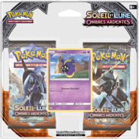 PACK 2 BOOSTERS SOLEIL ET LUNE OMBRES ARDENTES AVEC UNE CARTE COSMOG
