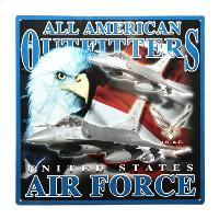 PLAQUE DECORATIVE EN METAL 36 X 36 CM ALL AMERICAN OUTFITTERS US AIR FORCE